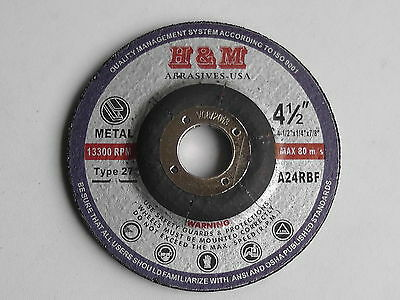 """40 Industral 4,5""""x1/4""""x7/8"""" Metal Grinding Wheel Angle Grinder Disc / Type 27"""