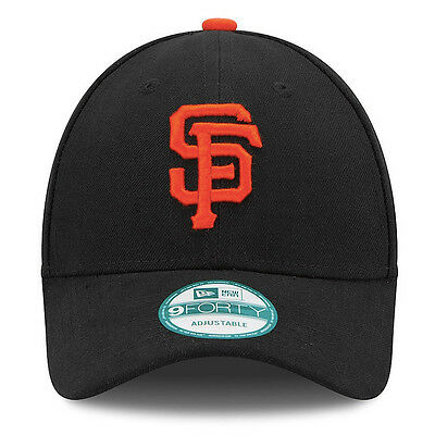 New Era 9forty San Francisco Giants Classic Adjustable Curve Peak Black Hat Cap