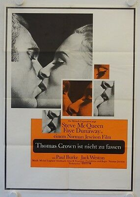 The Thomas Crown Affair original release german double-panel movie poster