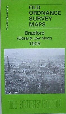 Old Ordnance Survey Detailed Map Bradford Odsal & Low Moor 1905  Sheet 216.16