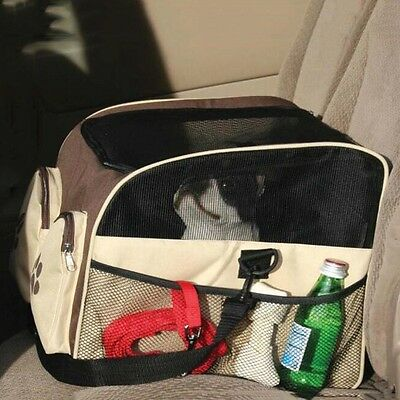 Portable Pet Dog Handbag Puppy Cat Travel Shoulder Bag Tote Car Seat Booster