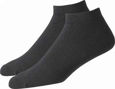 FootJoy Comfortsof Sport Cut Mens Golf Socks - Black - 1 Pair Per Pack