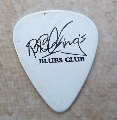 BB King Kind Of The Blues Club Music White Signature Guitar Pick Lucille