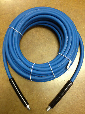 "50' CARPET CLEANING HIGH PRESSURE SOLUTION HOSE 1/4"" BLUE NEW 3000 psi NEW"