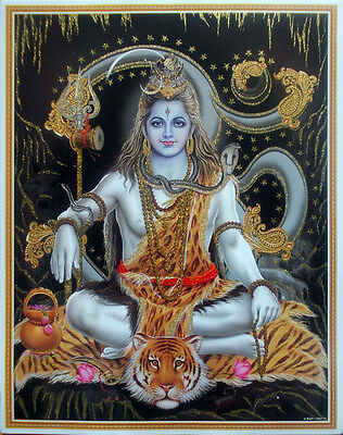 """LORD SHIVA Om Aum - Golden Effect Glossy POSTER - 15""""x20"""""""