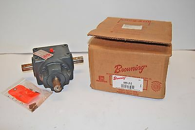 """Browning 6Hb1-Lr10 Emerson 3-Way Bevel Gear Box 1:1 Ratio T-Drive 1"""" Dia New"""