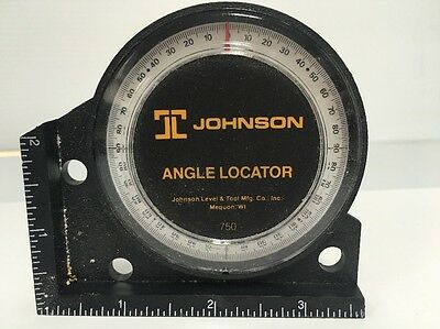 Vintage Tool Johnson Level 750 Angle Locator Corner Pitch Inch Foot