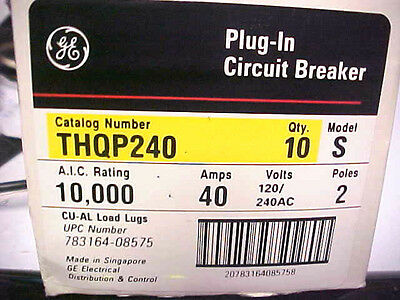 *NEW-GENERAL ELECTRIC 40AMP 2 POLE  Circuit Breaker, THQP240       K-57