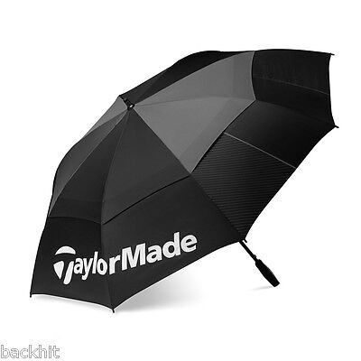 "2016 TaylorMade Golf 64"" Double Canopy Tour Umbrella - Black/Grey"
