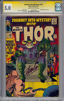 Journey Into Mystery #122 Cgc 5.0 Ss Stan Lee Signed Sig Series Cgc #1197085006