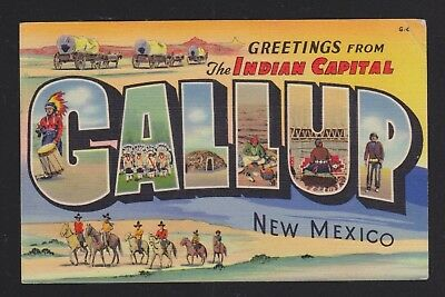 Usa 1939 Greetings From Indian Capital Gallup New Mexico Postcard To Trieste
