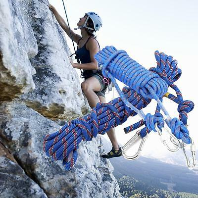 3KN/25KN 10m Climbing Rope Outdoor Mountain Rock Escape Rescue Aerial Work Cord