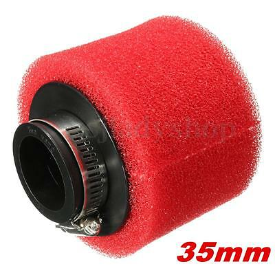 35mm Red Foam Racing High Flow Air Filter For GY6 50cc 139QMB 1P39QMB Scooter
