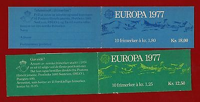 1977 Norway Europa booklet SG 795/6 Set of two
