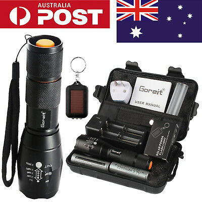 20000LM X800 SHADOWHAWK L2 LED FLASHLIGHT RECHARGEABLE TACTICAL TORCH 2x BATTERY
