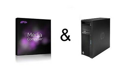 Avid Media Composer 8 + HP Z 440 Workstation, Profi. Schnittplatz