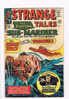 Strange Tales # 125 Human Torch Dr.Strange grade 3.0 scarce hot book !!