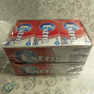 24 x 14 EXTRA Chewing Gum Blue Strawberry Red SugarFree Wrigley's Wrigley Bulk