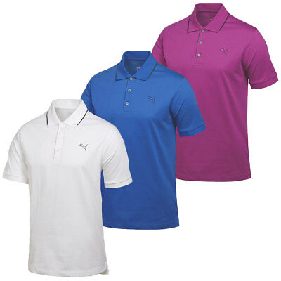 Puma Golf Mens Cotton Solid Polo Shirt 568244 DryCELL Tech Performance