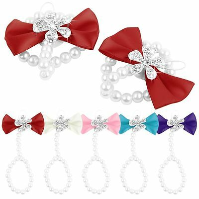 Newborn Toddler Infant Baby Barefoot Pearl Bow Rhinestone Beach Sandals Anklet