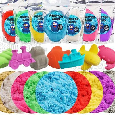 Magic Motion Moving Play Sand Pack 500g -2kg All Colours Building Kinetic Toy