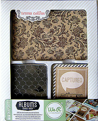 Teresa Collins  ALBUMS MADE EASY [SNAPSHOTS] 100 Journal Cards  $10.00 MSRP