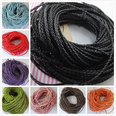 5/10/100m Man-made Leather Braid Rope Hemp Cord For Necklace Bracelet 3mm