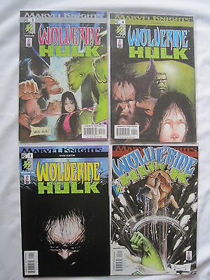 WOLVERINE / HULK : COMPLETE 4 ISSUE SERIES by SAM KEITH. MARVEL KNIGHTS. 2002