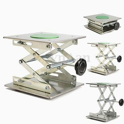 20x20cm Stainless Steel Lift Countertop Lifting Platform Jack Lab Laboratory 8''
