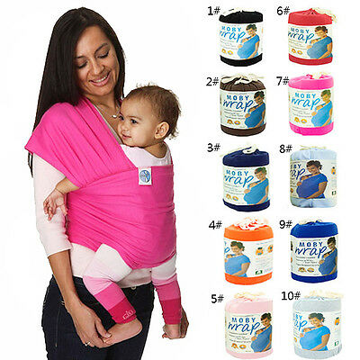 Original Moby Wrap Infant Baby Carrier Sling Top 0-3 Years 10 Color Cotton BEST