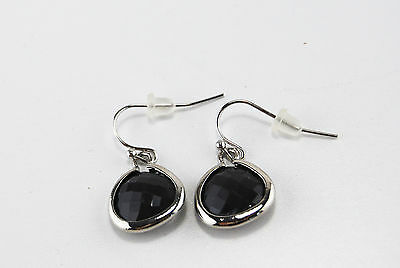 high quality jewelry Drew earring Dark Grey and silver colour
