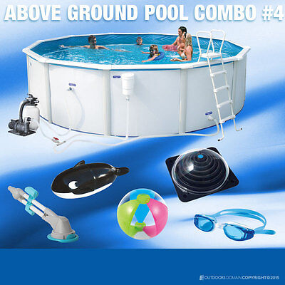 Swimming Pool 10100L Above Ground Round 360cm Pool ComboPack Solistapack