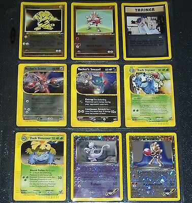 Best of Game COMPLETE 9 Card Set NEAR MINT + Pokemon Cards Rocket's Mewtwo!