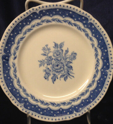 "Grindley England Avon Blue Bread & Butter Plate 6 1/4"" Blue Band & Laurel"
