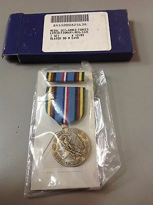 US Armed Forces Exeditionary Service Medal New Sealed in Plastic NIB Military