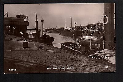 Blyth - The Harbour - real photographic postcard