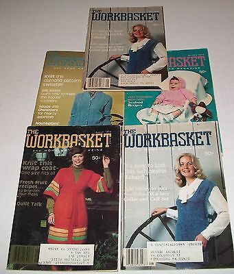 Vintage Lot Of 5 Workbasket Needleworks And Crafts Small Magazines 1978 Issues