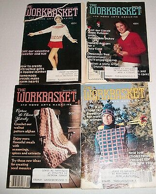 Vintage Lot Of 4 Workbasket Needleworks And Crafts Small Magazines 1980 Issues
