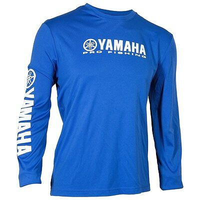 Yamaha Moisture Wicking Pro Fishing L/s T-Shirt - Yamaha Blue - Size Large - New