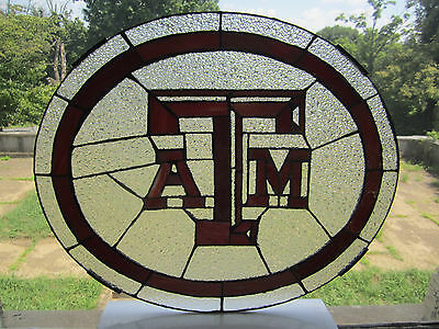 TEXAS A&M Aggies Tiffany Stained Glass TEAM EMBLEM Logo NCAA NEW