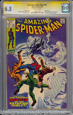 Amazing Spider-Man #74 Cgc 6.5 Ss Stan Lee Signed Sig Series Cgc #1197761008