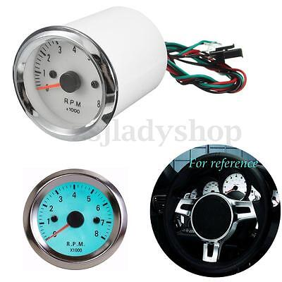 2'' 52mm Bule LED Pointer Tacho Tachometer Speedometer Gauge Meter 0~8000RPM
