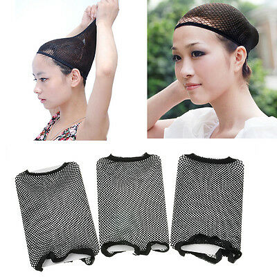 3Pcs Hot Trendy Unisex Stocking Wig Liner Cap Stretchable Snood Mesh Hair Nets