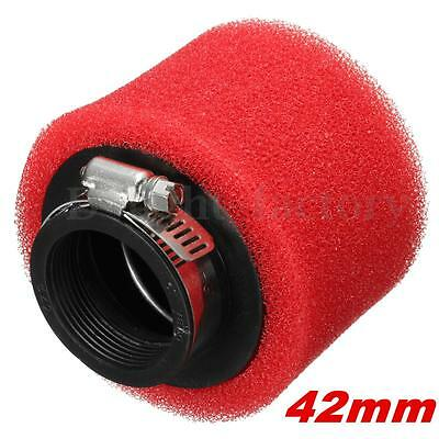 42mm Motorcycle red Foam Quad Air Filter for Scooters Moped ATV GO KART GY6 50CC