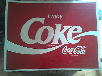 Coke Sign/Poster Coca Cola 32 in x 24 in