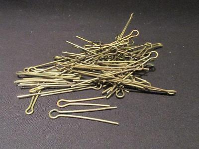 50 Brass Lug Pins WWI/WWII Era Assortment in Various Lengths