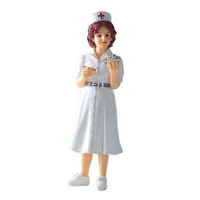 Dolls house figure 1/12th scale poly/resin Nurse