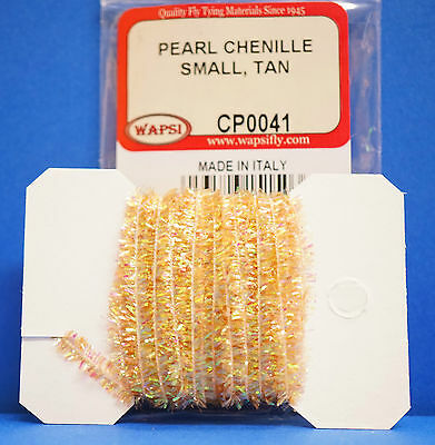 Pearl Chenille SMALL Ø 4mm x 3 Meter Wapsi USA CP0047 Small BROWN