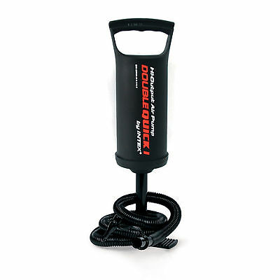 NEW MANUAL AIR PUMP HIGH OUTPUT HAND OPERATED HOSE ATTACHMENTS 29cm INTEX 68612