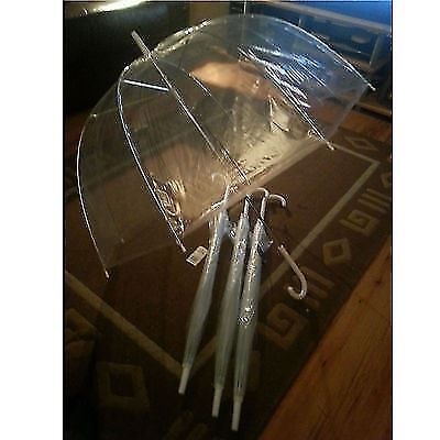 Clear Dome Umbrella New & Unused suitable for Wedding white handle & Spike
